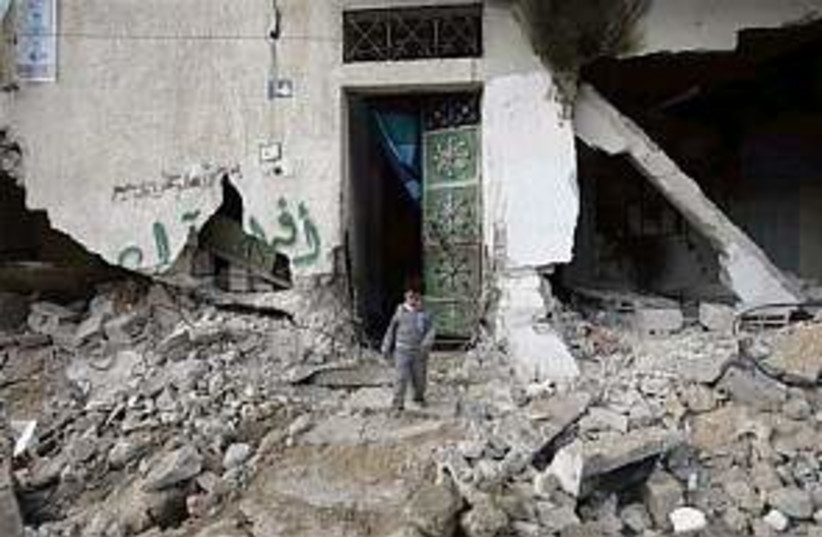 house razed gaza 298 ap (photo credit: AP)