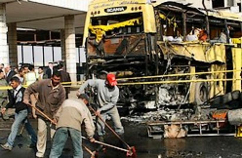 Damascus bus blast 248.88 (photo credit: )