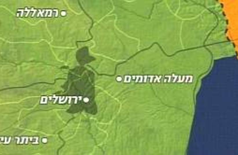 Betar Illit map 298 (photo credit: Channel 10)
