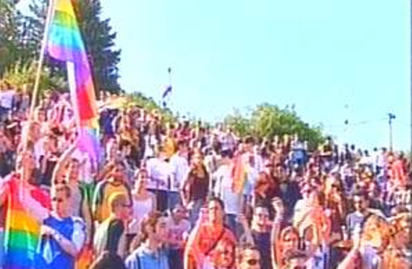 gay pride rally 298.88 (photo credit: Channel 2)