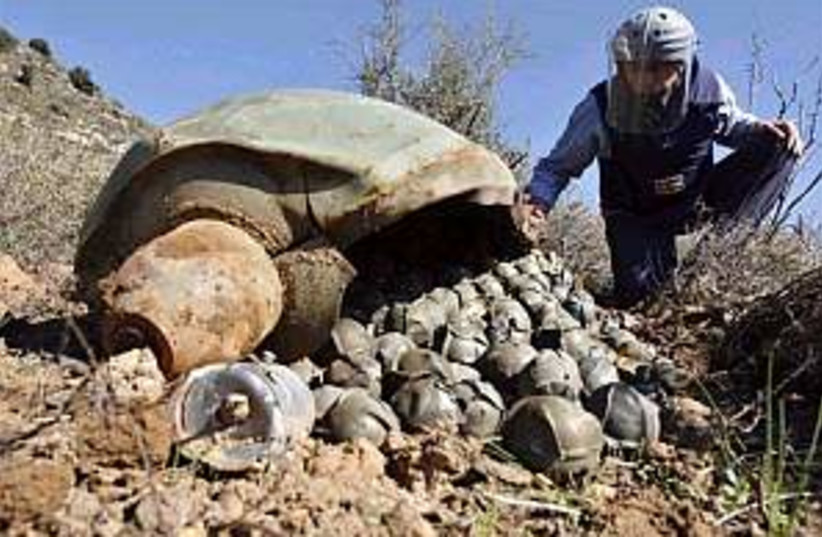 cluster bombs in lebanon (photo credit: AP)