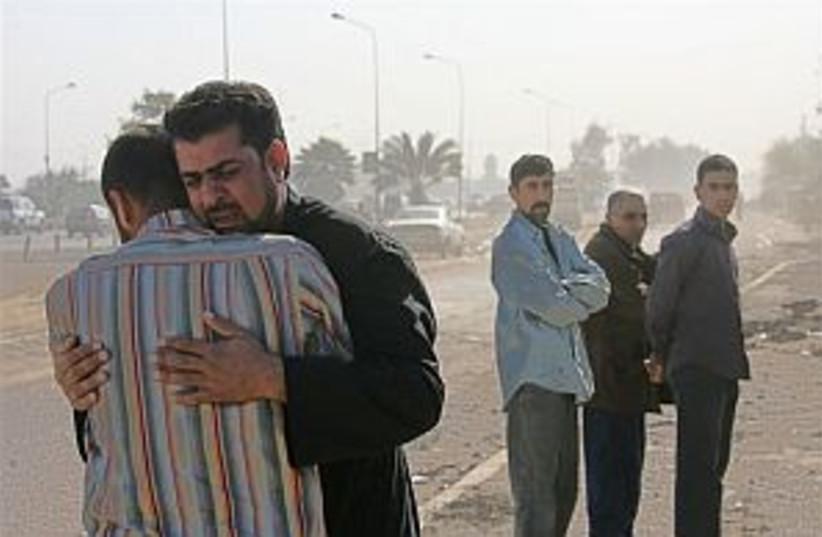 iraq mourning 298.88 ap (photo credit: AP)