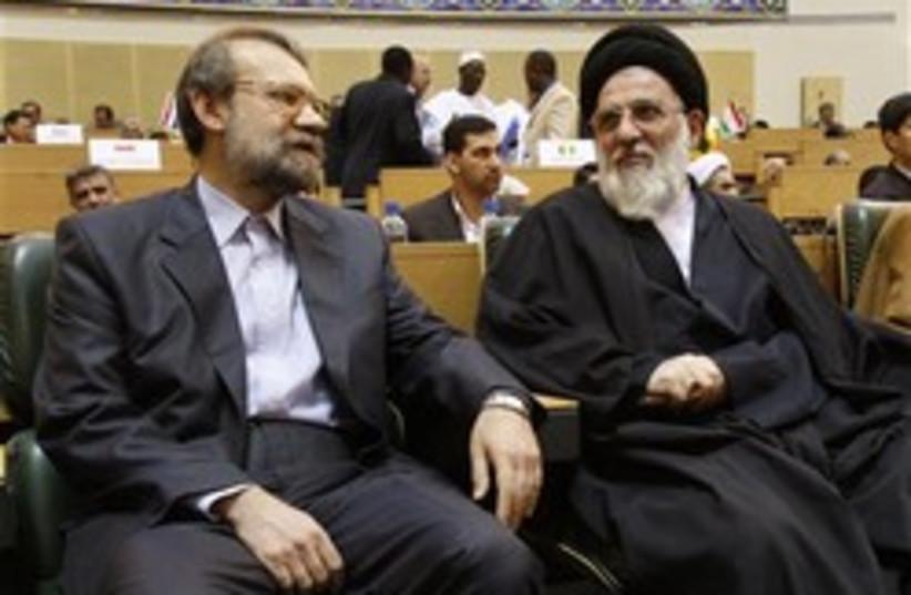 Iranian parliament speaker Ali Larijani  (photo credit: AP)