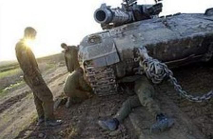 idf gaza tank 224 88ap (photo credit: AP [file])