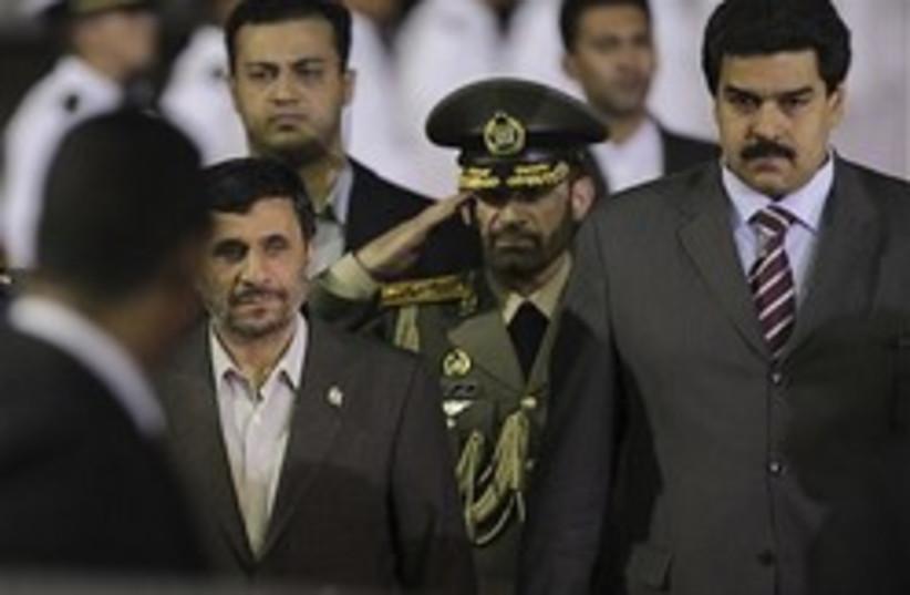 Ahmedinejad in Venezuela 248x88 AP (photo credit: )