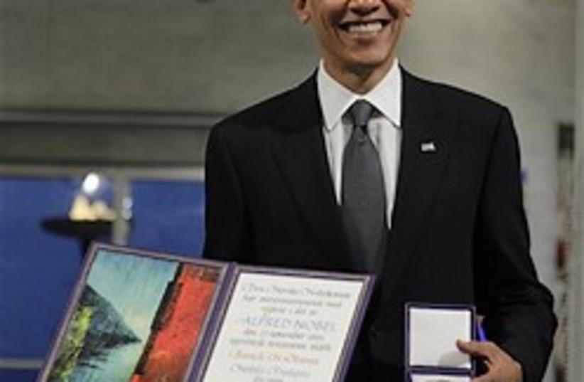 obama nobel 248.88 (photo credit: AP)