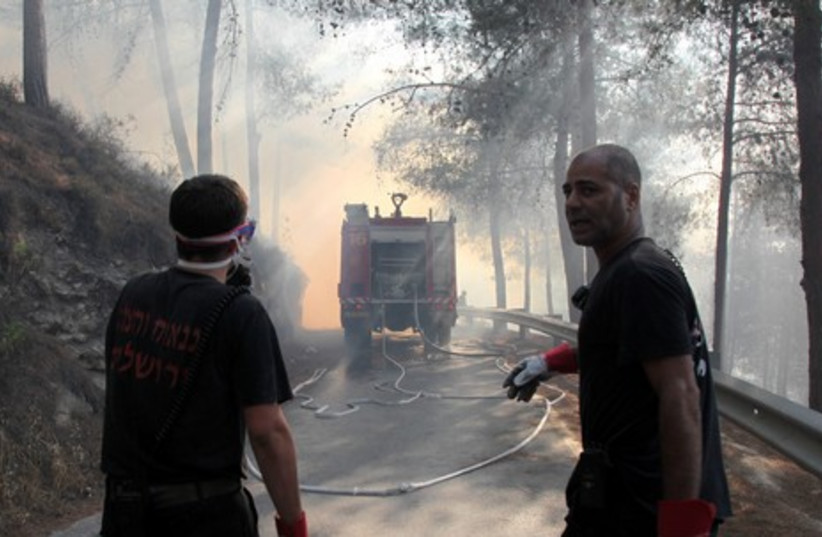 Jerusalem fire gallery_10 (credit: Marc Israel Sellem)
