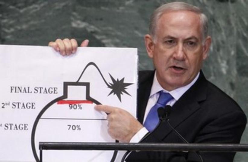 Netanyahu Irã bombardear linha vermelha 370 (crédito: REUTERS / Lucas Jackson)