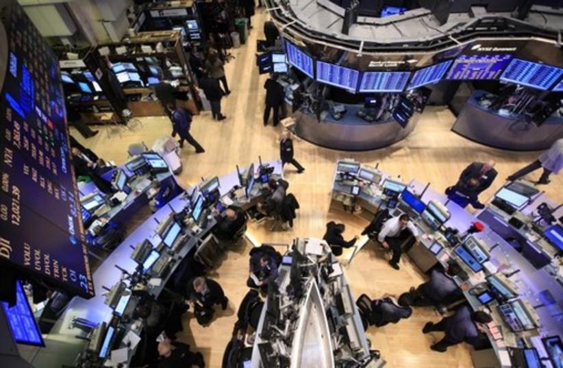 The floor of the New York Stock Exchange (credit: REUTERS)