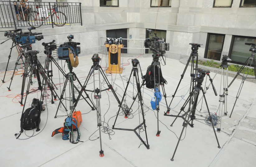 THE PEOPLE behind the camera could be biased. (photo credit: REUTERS)