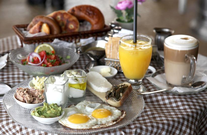 Breakfast at Cafe Rimon in Jerusalem (photo credit: MARC ISRAEL SELLEM)