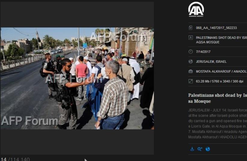 Screen cap of AFP/Anadolu (photo credit: screenshot)