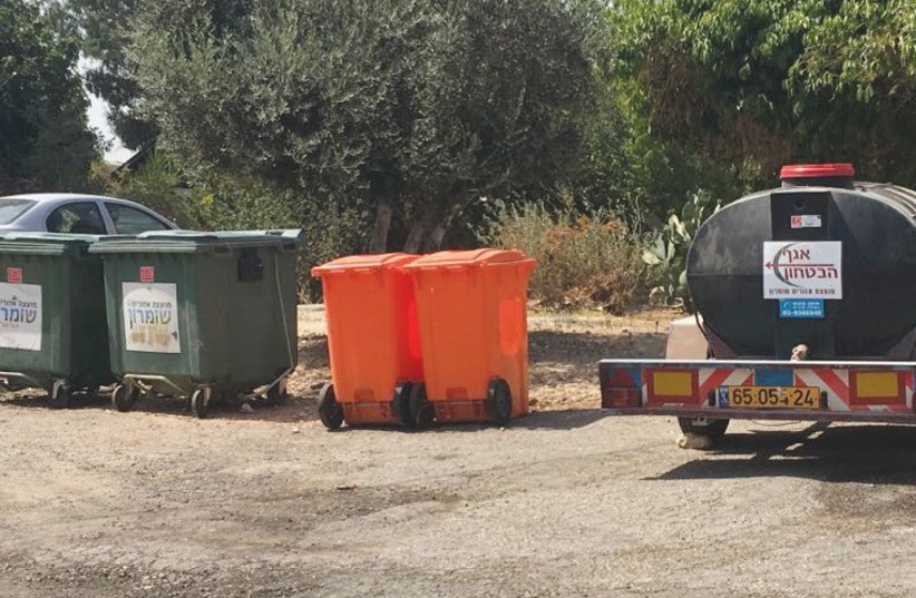 WATER TRUCKS are needed in the settlement of Shavei Shomron, west of Nablus. (photo credit: SAMARIA REGIONAL COUNCIL)