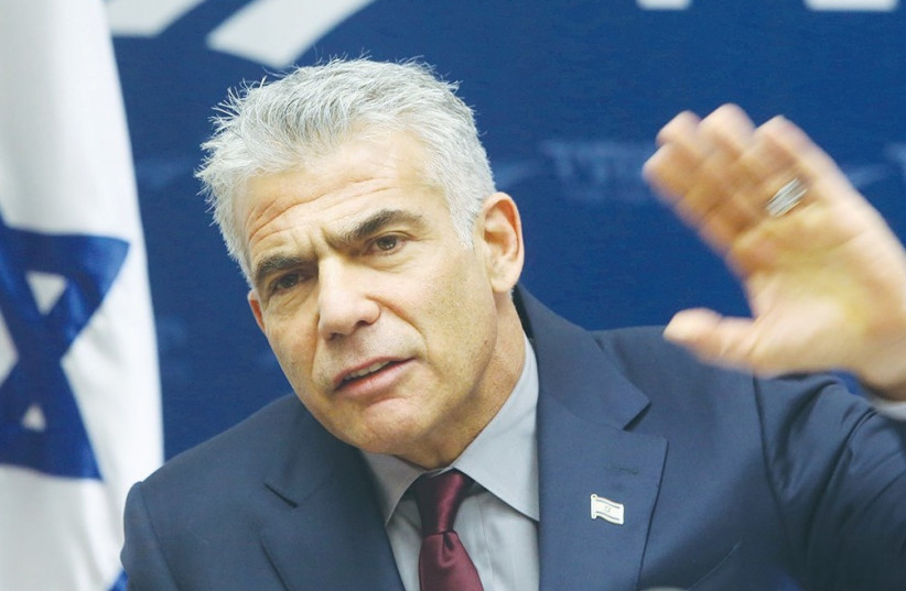 YAIR LAPID. After Avi Gabbay won the Labor leadership primary last Monday, Yesh Atid dropped in the polls. (photo credit: MARC ISRAEL SELLEM/THE JERUSALEM POST)