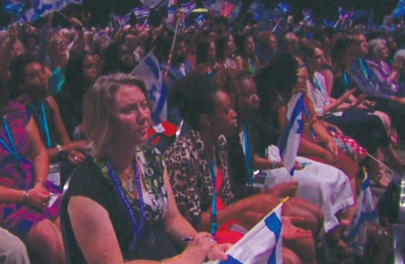 ATTENDEES OF THE annual Christians United for Israel (CUFI) Summit in Washington DC. (photo credit: Courtesy)
