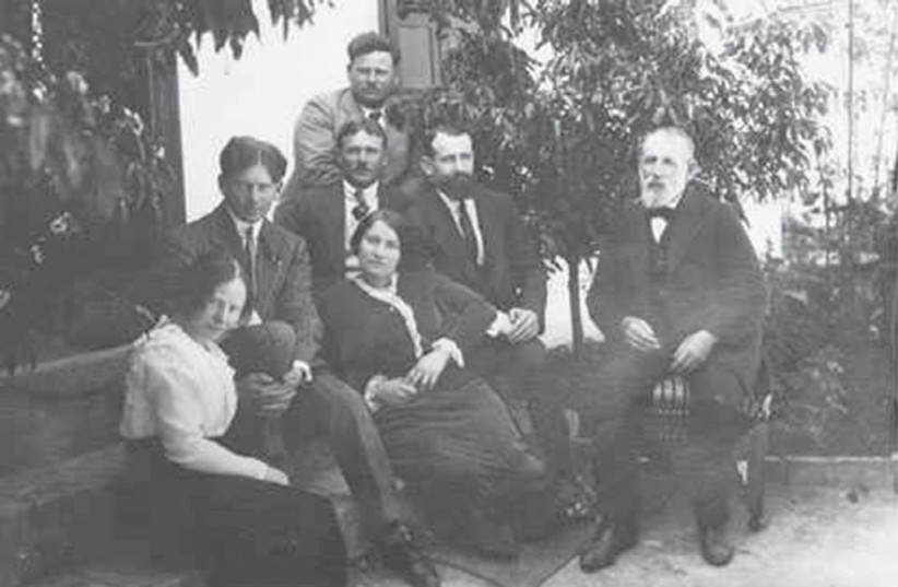 A LARGE ROLE in securing the Balfour Declaration was played by the Jewish underground movement headed by Aaron Aaronsohn, seen at the rear of this family photograph. (photo credit: BEIT AARONSOHN ZICHRON YA'ACOV)