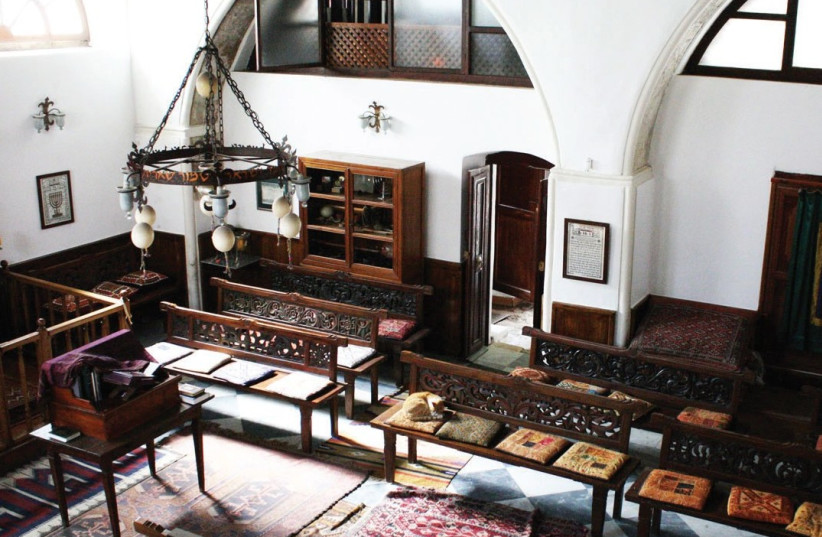 INTERIOR OF the Etz Hayyim Synagogue in Chania, Greece. (photo credit: TAKEN FROM ETZ-HAYYIM-HANIA.ORG)