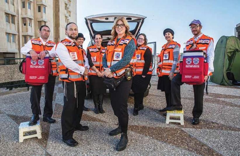 Members of United Hatzalah's Psychotrauma and Crisis Response Unit gather in Jerusalem. (photo credit: UNITED HATZALAH)