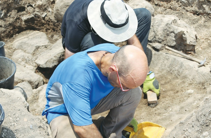 ARCHEOLOGISTS EXCAVATE the historic site of Magdala (photo credit: Courtesy)