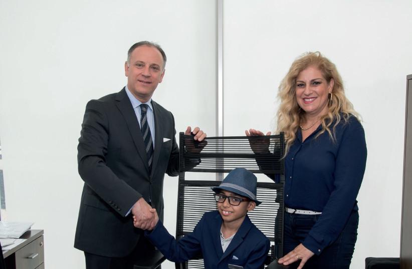 Guy Kleiman, Nitai, Denise Bar-Aharon. (photo credit: YARIV DAGAN)
