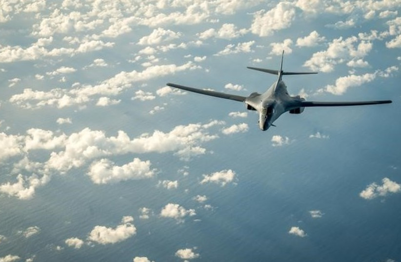 US flies bombers over North Korea (photo credit: REUTERS)
