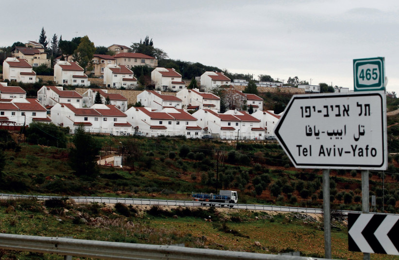 THE JEWISH community of Halamish where three members of the Salomon family were murdered on July 21. (photo credit: REUTERS)