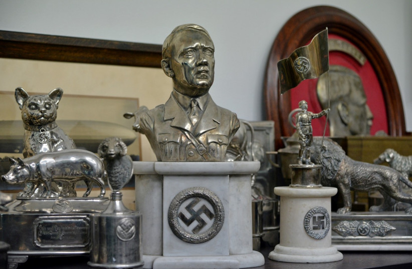 Nazi artifacts seized from a house in Buenos Aires, Argentina, in June 2017. (photo credit: REUTERS)