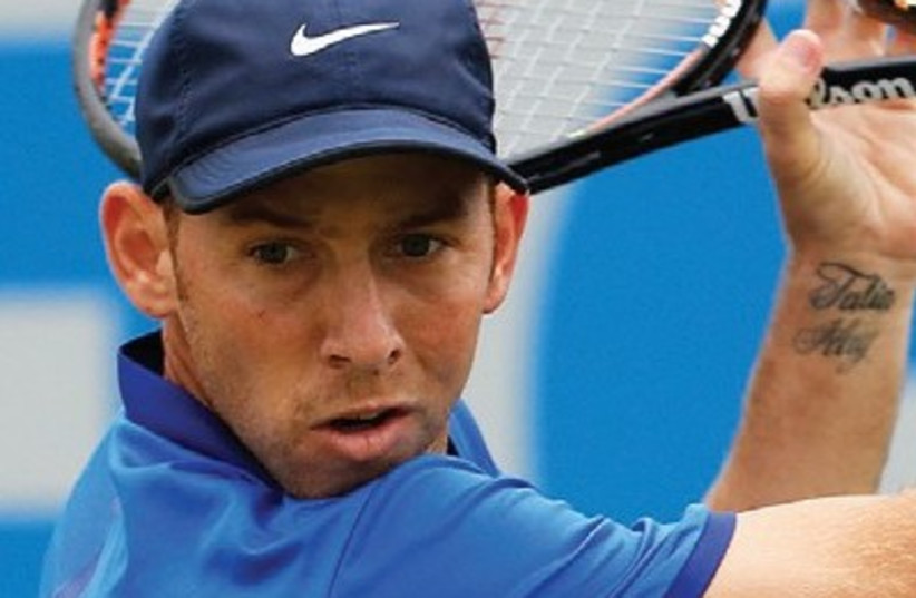 DESPITE WINNING the first set in a tie-break against American Josh Donaldson, Israel's Dudi Sela was knocked out of the Citi Open in the opening round late Monday night (photo credit: REUTERS)