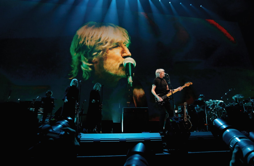 ROGER WATERS performs at Staples Center in Los Angeles in June. (photo credit: REUTERS)