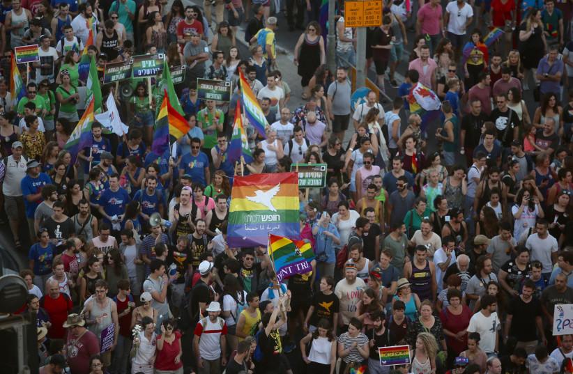 Jerusalem Gay Pride Parade 2017 (photo credit: MARC ISRAEL SELLEM)