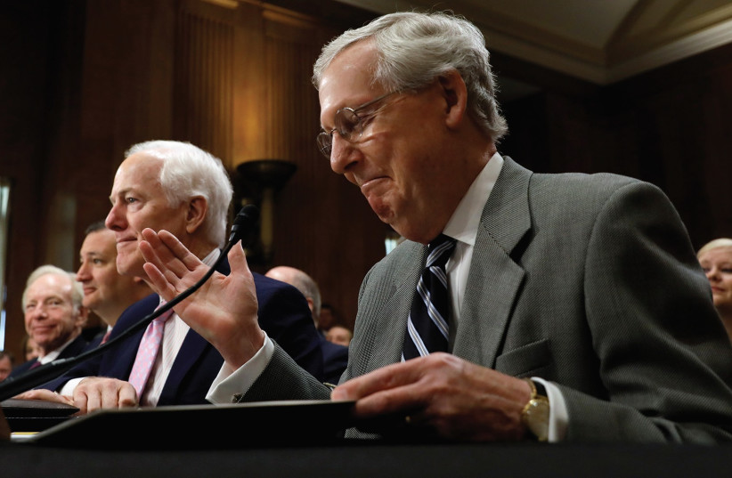 A JULY meeting of the US Senate Foreign Relations Committee (photo credit: REUTERS)
