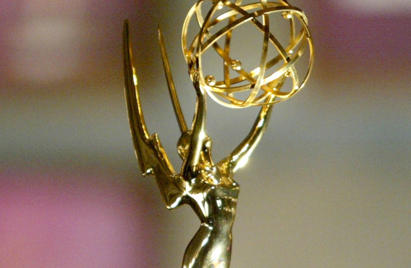 Emmy award statue (photo credit: VINCE BUCCI / GETTY IMAGES NORTH AMERICA / AFP)