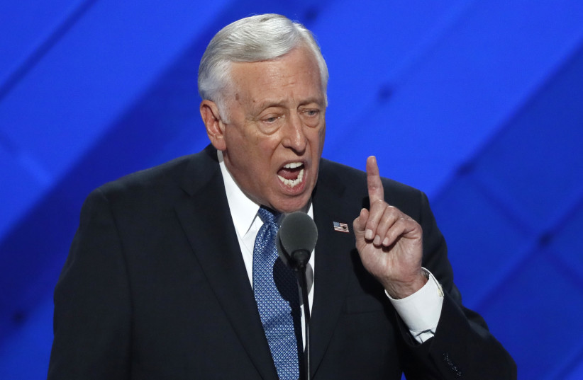 US House Democratic Whip Steny Hoyer of Maryland speaks during the first day of the Democratic National Convention in Philadelphia, Pennsylvania (photo credit: REUTERS)