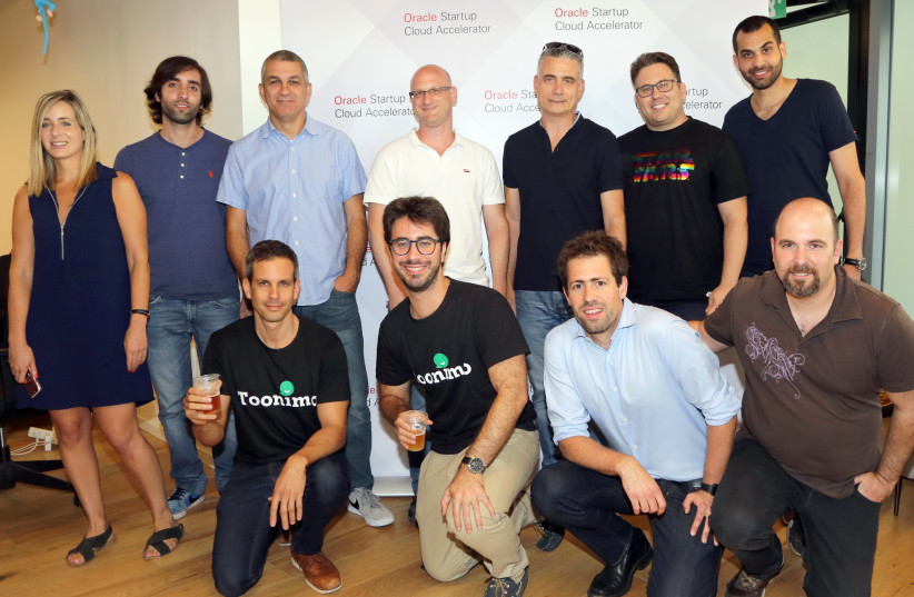 Oracle's five Israeli Startups selected for its Startup Program in Tel Aviv. (photo credit: EZRA LEVY)
