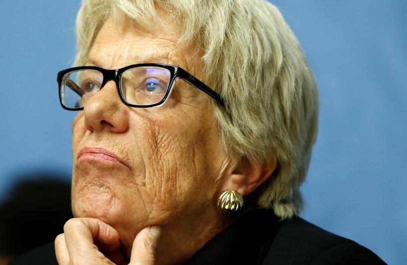 UN investigator Carla Del Ponte (photo credit: DENIS BALIBOUSE / REUTERS)