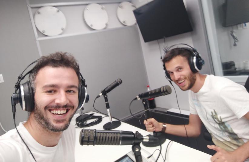 Eytan Weinstein (left) and Naor Meningher at the Kan studios in Tel Aviv. (photo credit: Courtesy)