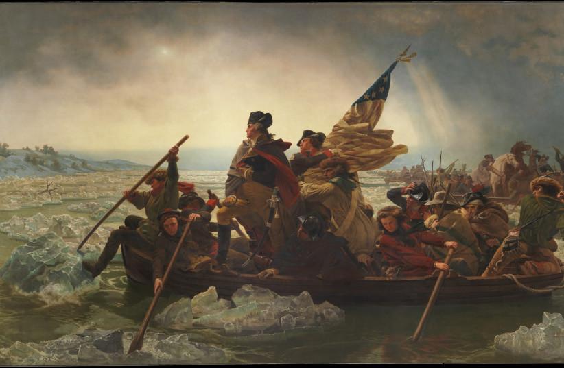 Washington Crossing the Delaware, December 25, 1776, by Emanuel Leutze, 1851. (photo credit: Wikimedia Commons)