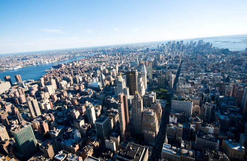 New York city panorama with tall skyscrapers (photo credit: INGIMAGE)