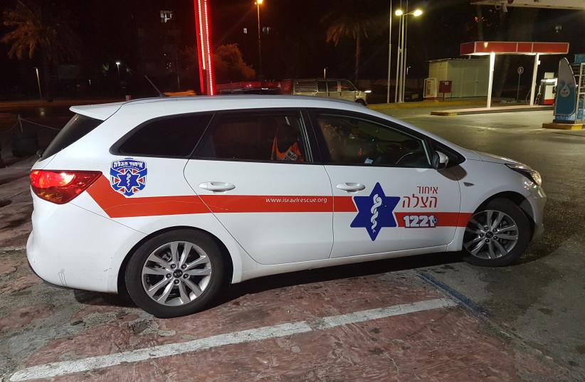 United Hatzalah fly car (photo credit: BECKY BROTHMAN)