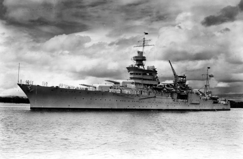 The World War II cruiser USS Indianapolis (photo credit: COURTESY U.S. NAVAL HISTORY AND HERITAGE COMMAND/U.S. NAVY/HANDOUT VIA REUTERS)