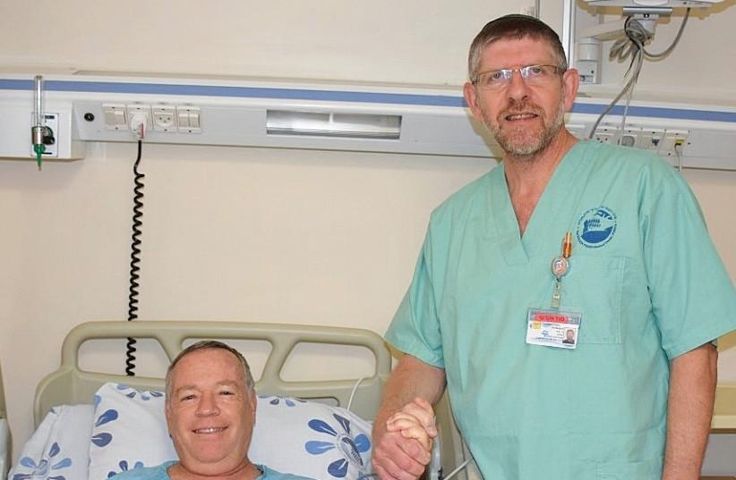 YISRAEL ELYADA from Katzrin recovers from a catheterization performed by Dr. Fabio Koznitz at Poriya Hospital in Tiberias. (photo credit: PORIYA HOSPITAL)