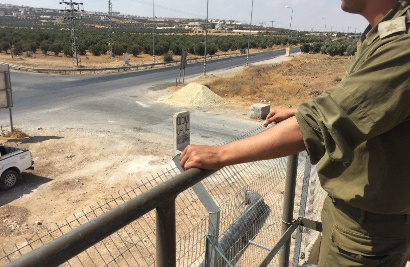 IDF forces work to maintain calm in the West Bank (photo credit: ANNA AHRONHEIM)