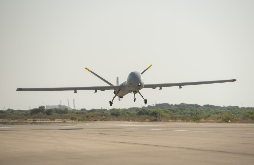 The IDF Hermes 900 Kochav Drone (photo credit: IDF SPOKESMAN'S UNIT)