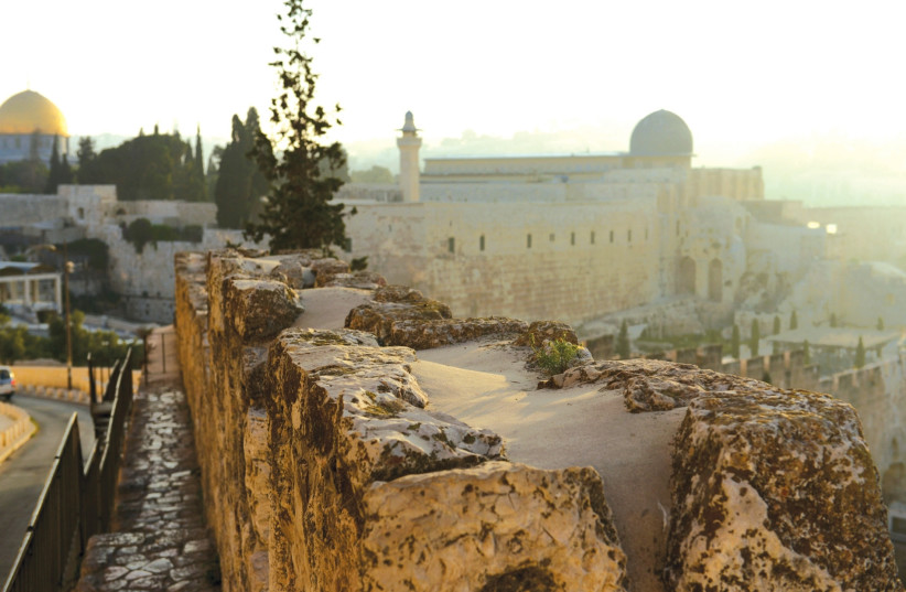 VIEW OVER The Temple Mount. Right: Al-Aksa Mosque. Left: Dome of the Rock. ( (photo credit: Mark Neiman/GPO)
