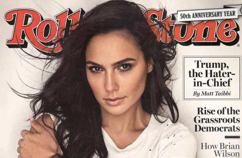 ACTRESS GAL GADOT is on the cover of the September issue of 'Rolling Stone' magazine (photo credit: ROLLING STONE)