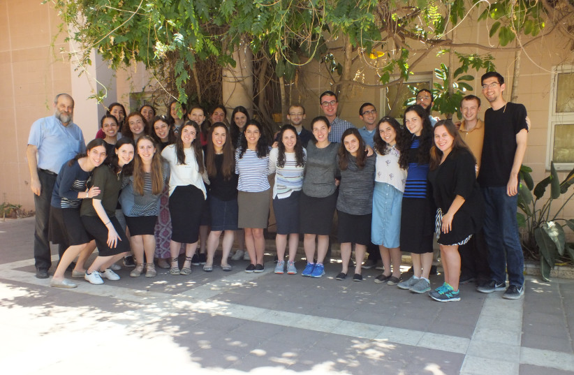 """24 Jewish American students are enrolled in the """"Summer Research Internship Program"""". (photo credit: SARAH LEVI)"""