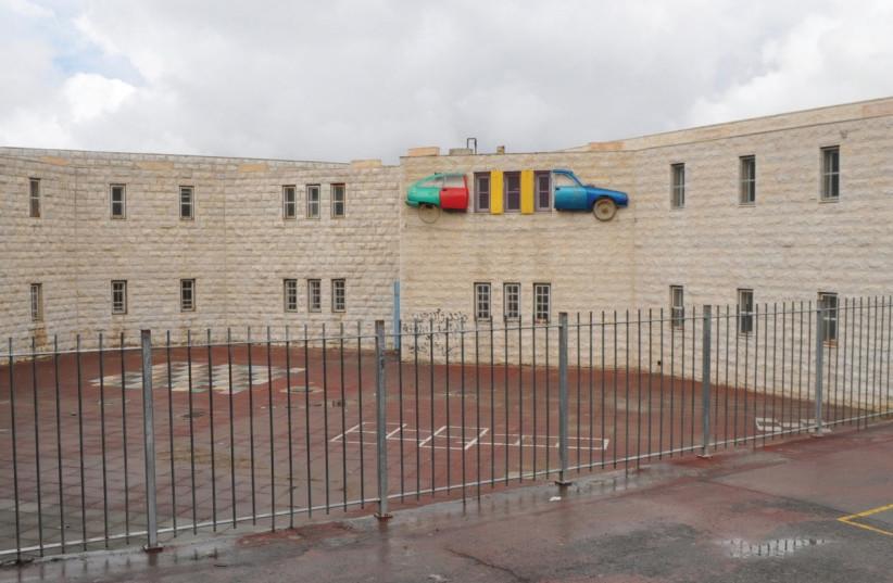 A HIGH SCHOOL is seen in southern Jerusalem's Beit Safafa neighborhood. (photo credit: JERUSALEM MUNICIPALITY)