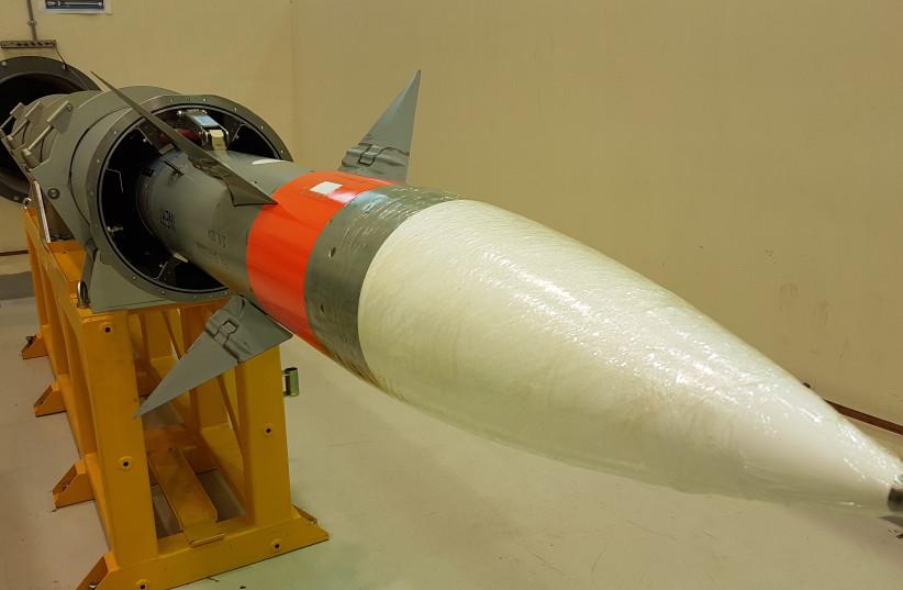 LRSAM Missile (photo credit: DEFENSE MINISTRY/IAI)