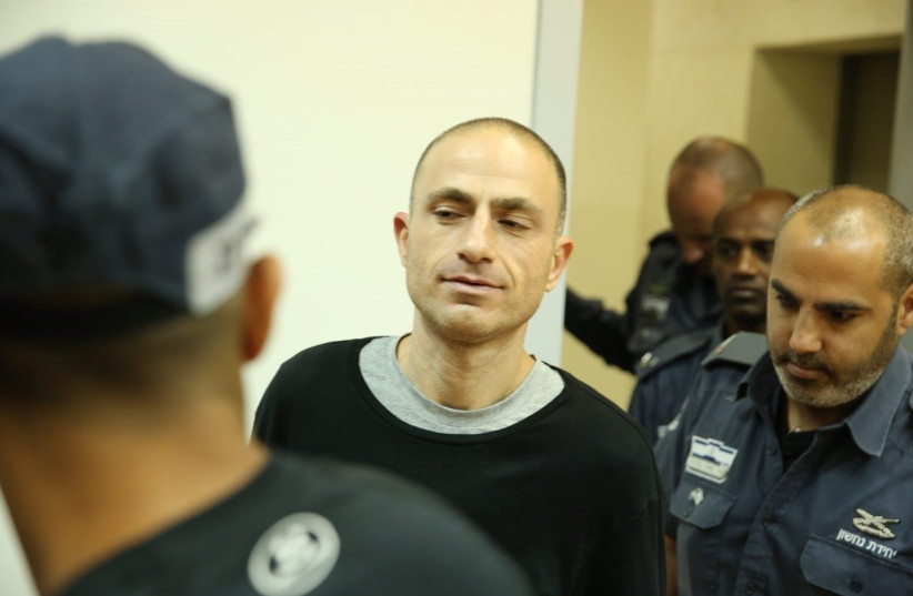 Top Israeli mob boss Asi Abutbol indicted for two murders, Augut 29, 2017. (photo credit: AVSHALOM SASSONI/MAARIV)