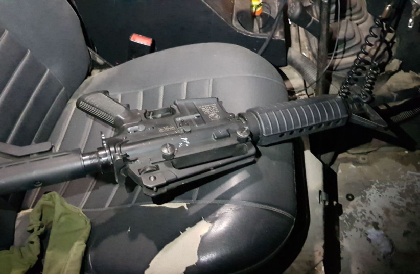 Illegal weapon seized during IDF raid on West Bank arms factory (photo credit: IDF SPOKESPERSON'S UNIT)